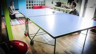 Superman assembles Sponeta table tennis table - Timelapse 8fps