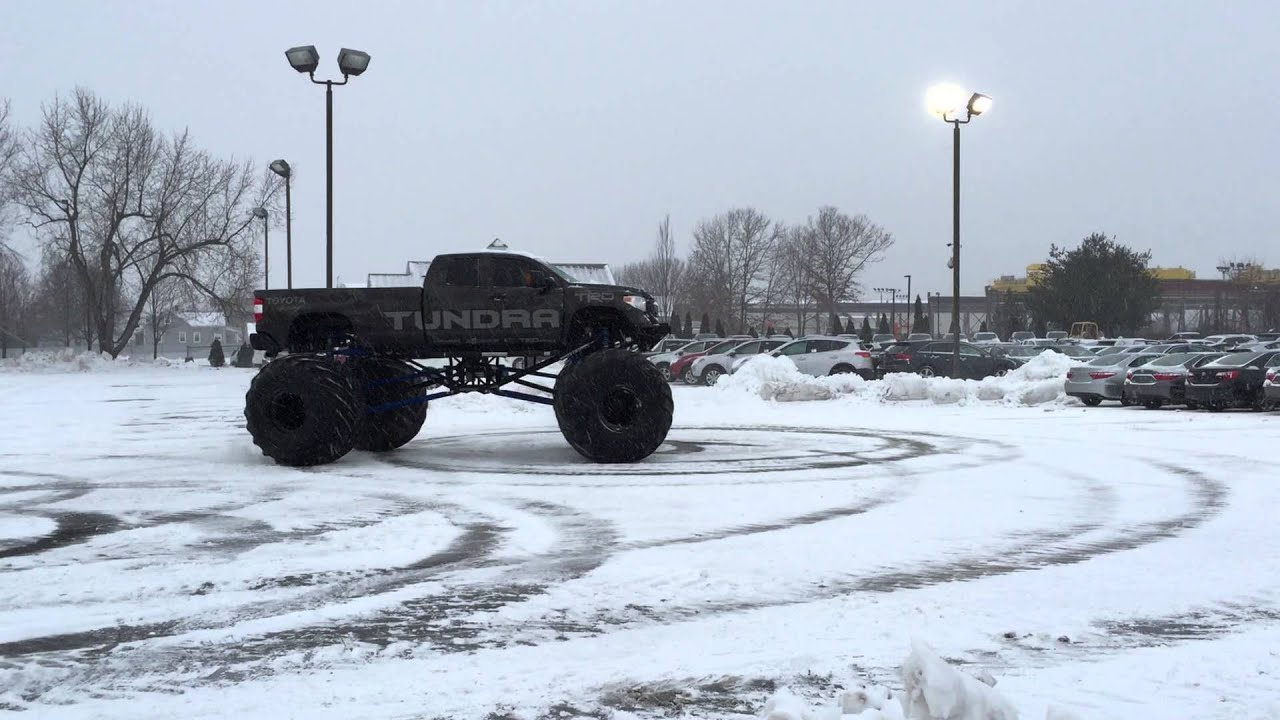 Some Fun In The Snow In The Toyota Of Wallingford TRD Tundra Monster Truck    YouTube