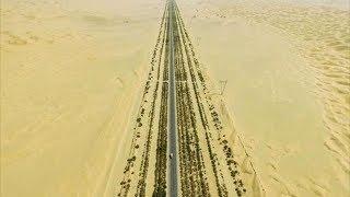 Для чего китайцы построили 446 км трассы посреди безлюдной пустыни. Уникальное Таримское шоссе