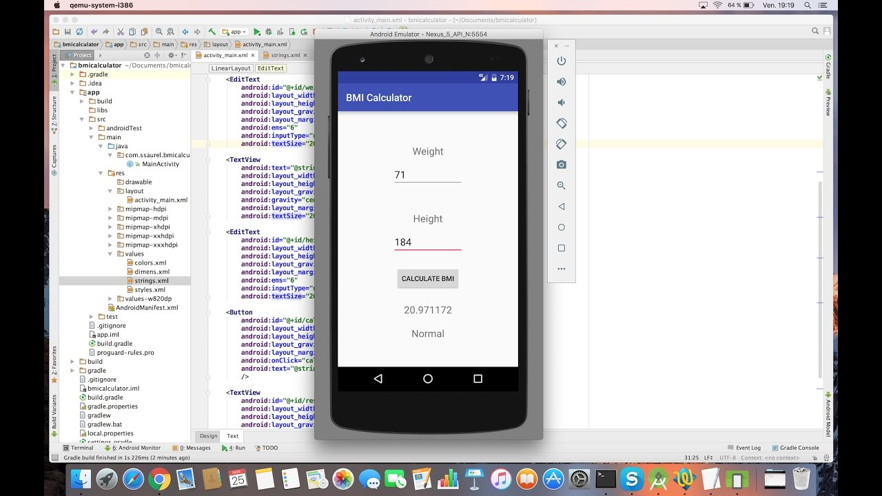 [tutorial] Learn To Create A Bmi Calculator For Android Android Forums At  Androidcentral