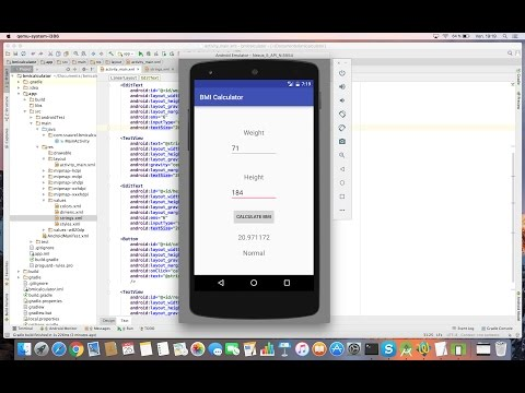 Learn To Create Bmi Calculator App For Android