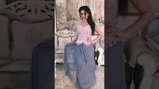 G 2253 Платье вечернее с гипюровым верхом video