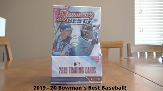 First Baseball Rip for this Channel!  Bowman's Best 2019-2020 Hobby Box!  Nice Auto Hits!!!!