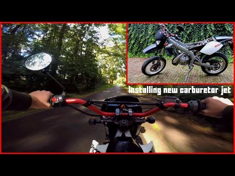 Derbi Senda X-Race SM 50cc Installing New Jets + First Test Ride