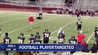 Targeted HS Football Player Attacked And Choked By Opponent. thumbnail
