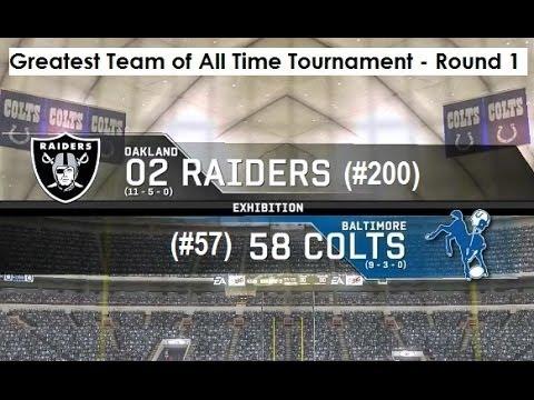2002 Oakland Raiders vs. 1958 Baltimore Colts
