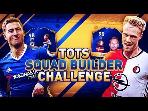 Fifa 17 tots squad builder challenge! premier league vs eredivisie w/ player reviews! (fut)