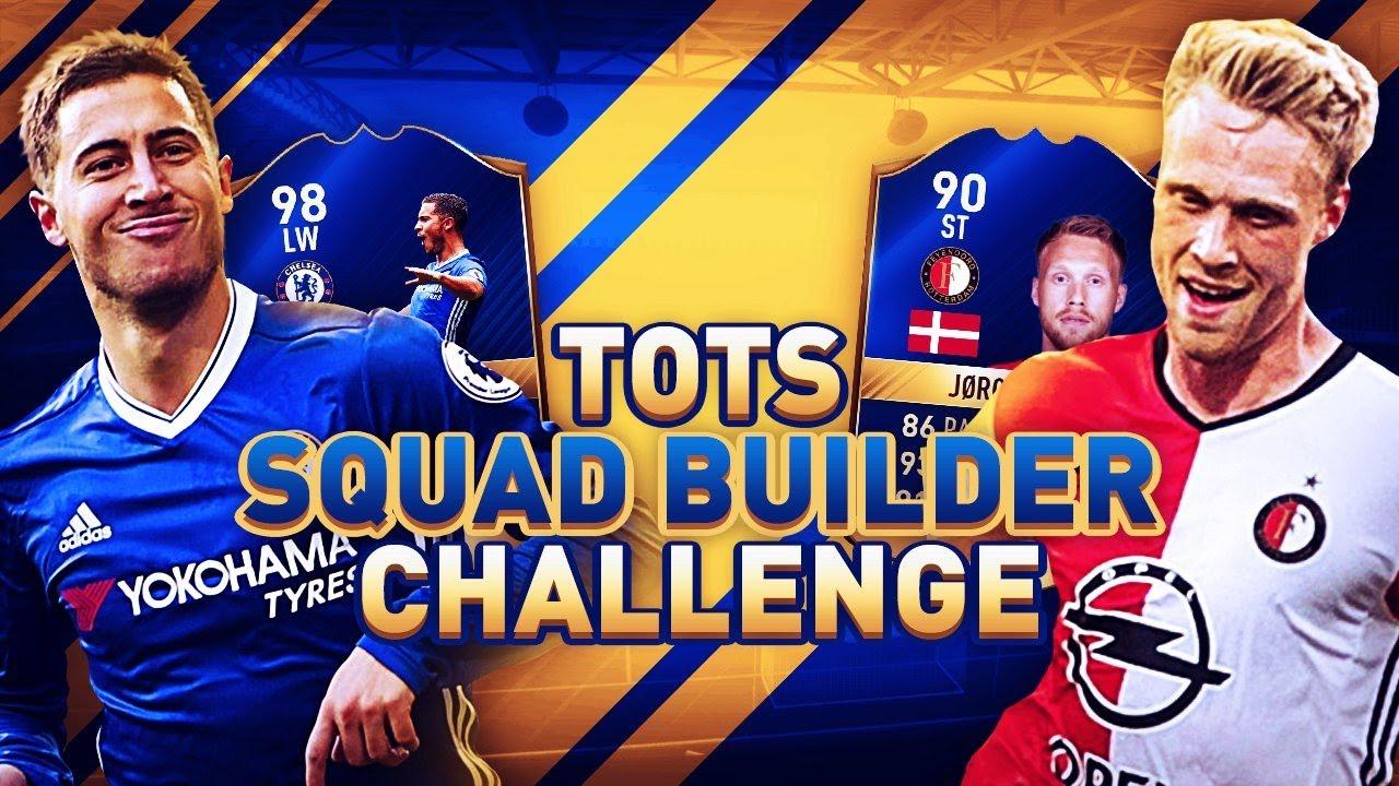 FIFA 17 TOTS SQUAD BUILDER CHALLENGE! PREMIER LEAGUE vs ...