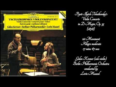 Pyotr Ilych Tchailovsky's Violin Concerto in D major, Op. 35. with Gidon Kremer, Solo Violinist.