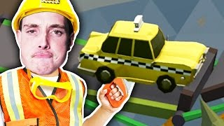 HOW TO DESTROY TAXIS! (Poly Bridge)