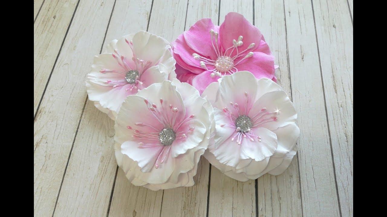 Kwiatki Z Foamiranu W Mojej Odslonie Youtube Paper Flowers Foam Flowers Flower Making