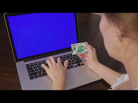 Online Payment With Credit Card  Stock Video