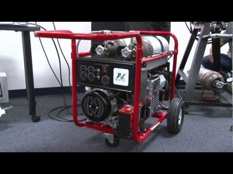 Hydrogen powered portable generator demonstration