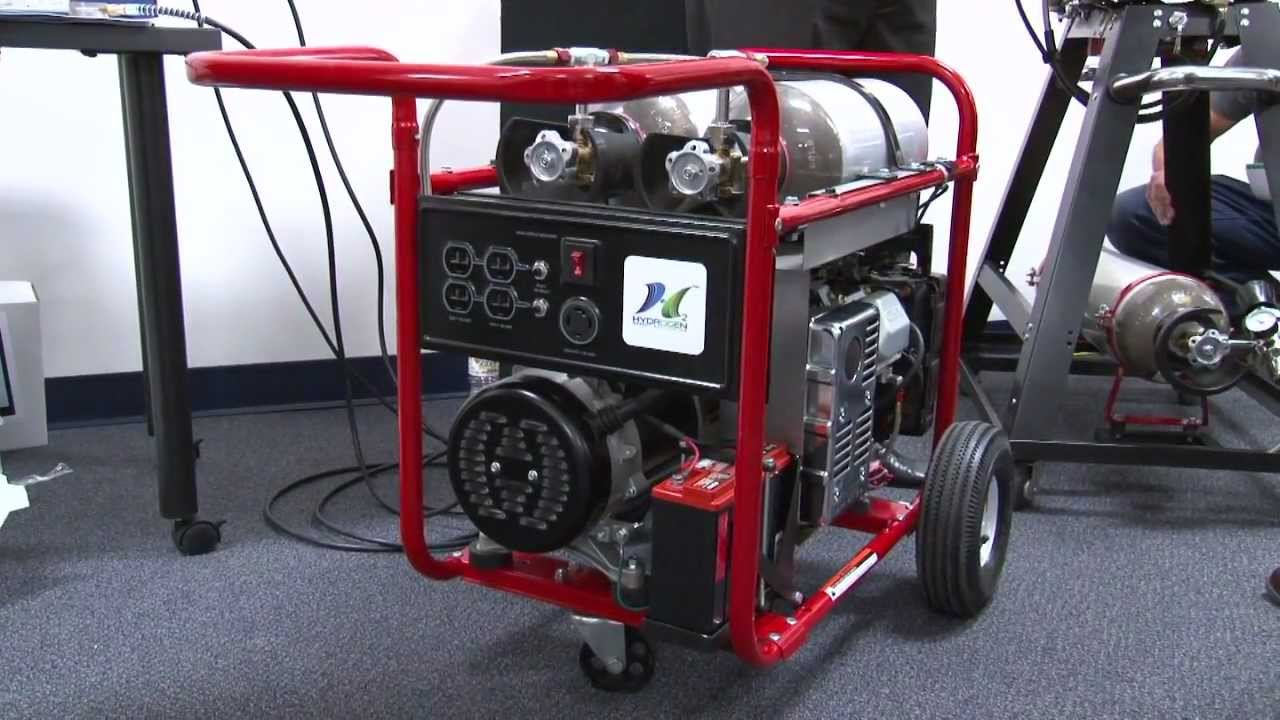 Hydrogen Powered Portable Generator Demonstration Youtube