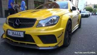LOUD Mercedes-Benz C63 AMG Coupe Black Series w/ MHP Exhaust!