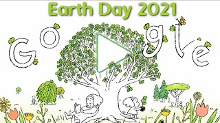 Earth Day 2021 Google Doodle   One Sapling At A Time