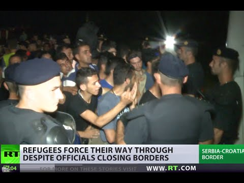 Border chaos: Over 15,000 refugees force their way to Croatia