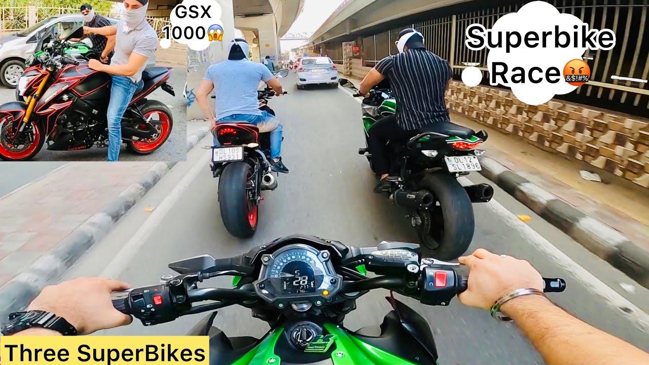 Three SuperBikes On Road😱Subscribers Demand Car Vlog🚘 || Apni Superbike ko kya hua🥺