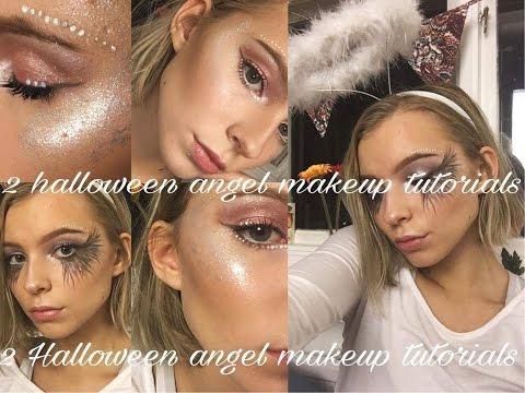 2 ANGEL HALLOWEEN MAKEUP LOOKS // Fallen Angel & Light Angel