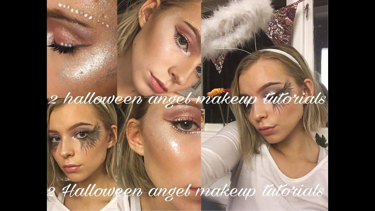 2 angel halloween makeup looks // fallen angel & light angel - youtube