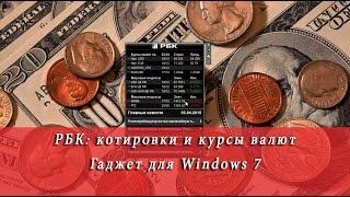 РБК: котировки и курсы валют (гаджет для Windows 7)