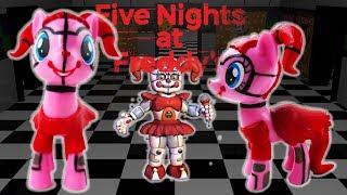 Custom FNaF Circus Baby Pinkie Pie Pony - Five Nights at Freddy's  DIY Toy Tutorial