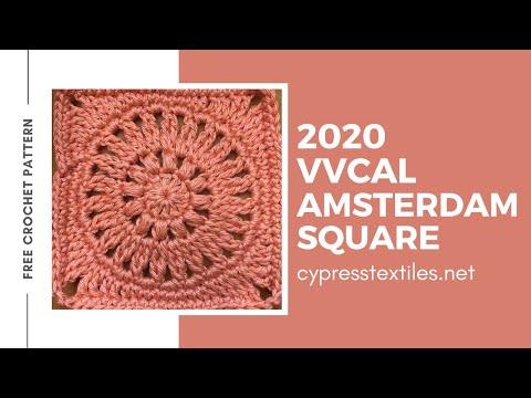 Amsterdam Square - 2020 VVCAL free crochet pattern - free crochet square motif