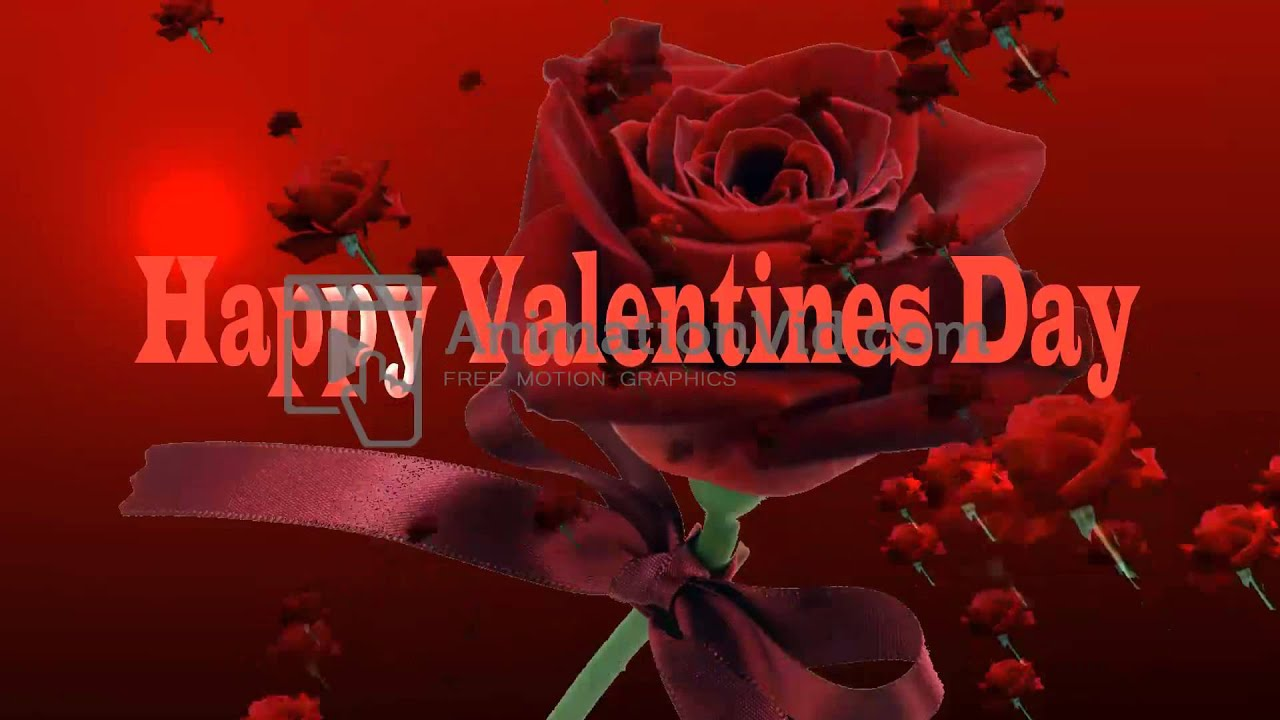 happy valentines day roses animation video youtube - Happy Valentines Day Animation