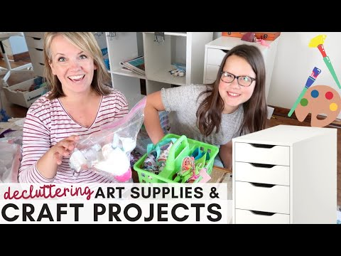 Top Tips for Decluttering Craft Projects & Art Supplies (& what to do with 1/2 done projects!)