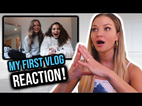 Reacting to my first ever YouTube video!