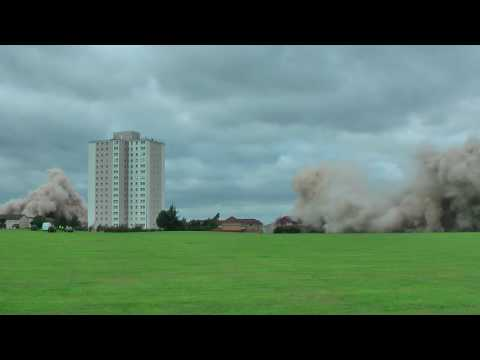 HD Middlesbrough Netherfields Fulbeck Glentworth House Flats Demolition (Blow Up)