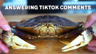 NICK DIGIOVANNI ANSWERS TIKTOK COMMENTS WHILE EATING LIVE DUNGENESS CRAB