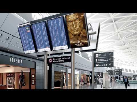 Branders –Falcon Private Bank – E-Pannel Airport