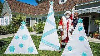 DIY Illuminated Fabric Christmas Trees