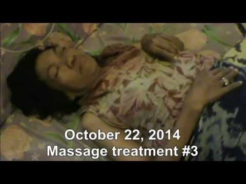 Massage therapy for a patient of HIV/AIDS, brain cancer, lymphoma