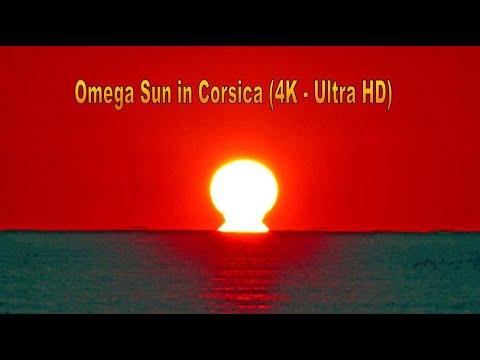 Fata Morgana Effect and Omega Sun in Corsica (4K) 🌅