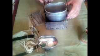 Универсальная мини печь в комплекте с котелком