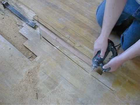Hardwood Floor Repair   Remove U0026 Replace Board By Service Doctor Northwest  Indiana   YouTube