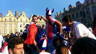 Франция - чемпион мира 2018-праздник в Аррасе Allez les bleus Arras