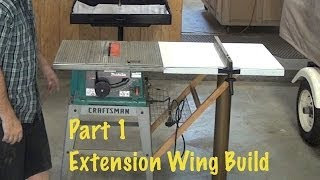 "Extend Rip Capacity From 12"" To 40"" * Extension Wing Build  1 Of 2 *diy Step By Step Table Saw"