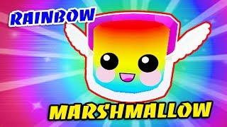 RAINBOW MARSHMALLOW!! I GOT RARE LEGENDARY PET In BUBBLE GUM SIMULATOR - Roblox