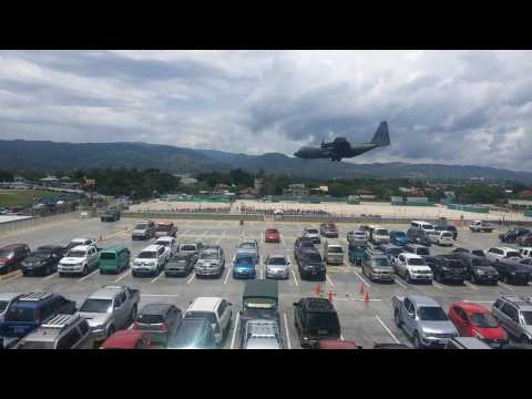 C-130 Plane landed in Edwin Andrew Airbase at Zamboanga International Airport