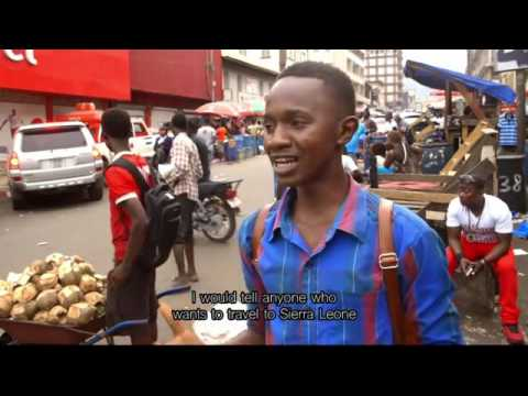 On the street in Freetown, Sierra Leone
