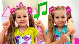 Head, Shoulders, Knees & Toes Song For Kids أغنية -ديانا وغرفتها الجديدة