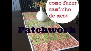 Caminho de mesa no estilo patchwork – Fácil de fazer