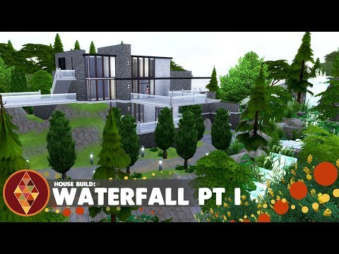Waterfall house pt 1 - The Sims 4 - House Build | HD thumbnail