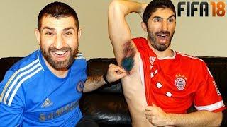 PAINFUL ARMPIT WAX FIFA 18 FORFEIT CHALLENGE (Bayern Munich vs. Chelsea)