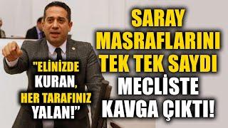 CHP'li Ali Mahir Başarır Saray Masraflarını Tek Tek Saydı Meclis'te Tartışma Çıktı!