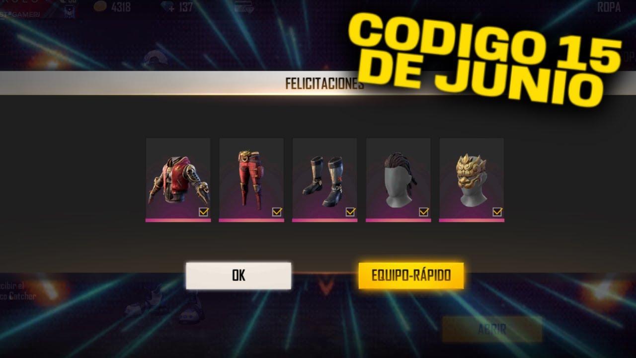 Nuevo Codigo Para Free Fire Hoy 15 De Junio 2020 Codigos Ff Youtube