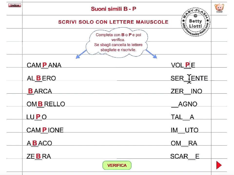 Italiano 36 esercizio con suoni simili youtube for Suoni difficili schede didattiche